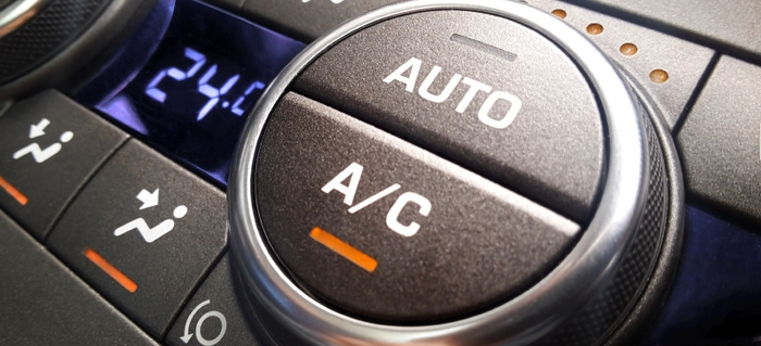 The AC system of a car