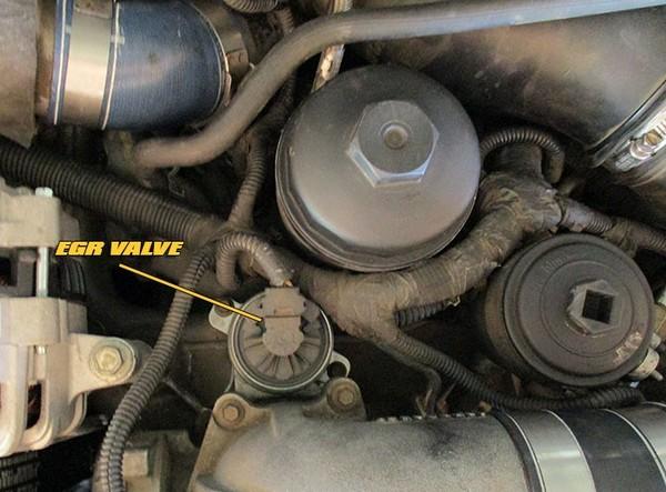 a EGR valve