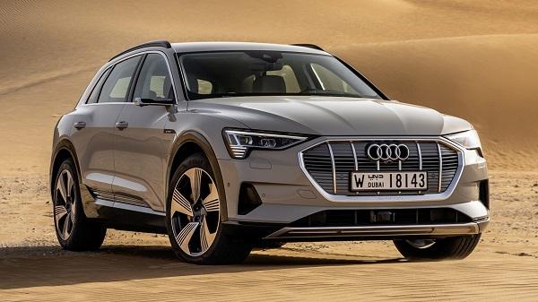 angular-front-of-a-parked-Audi-e-tron-EV