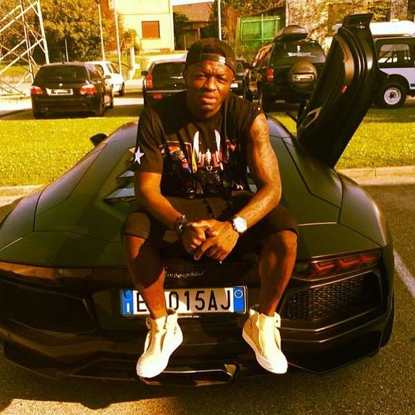 Muntari-sitting-on-his-gallardo