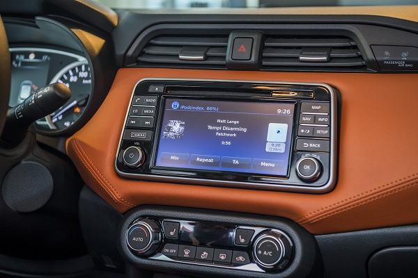 Infotainment-system-of-Nissan-Micra