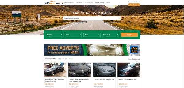 Naijauto.com-homepage