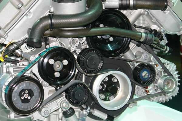 Serpentine-belt-of-a-power-steering-system