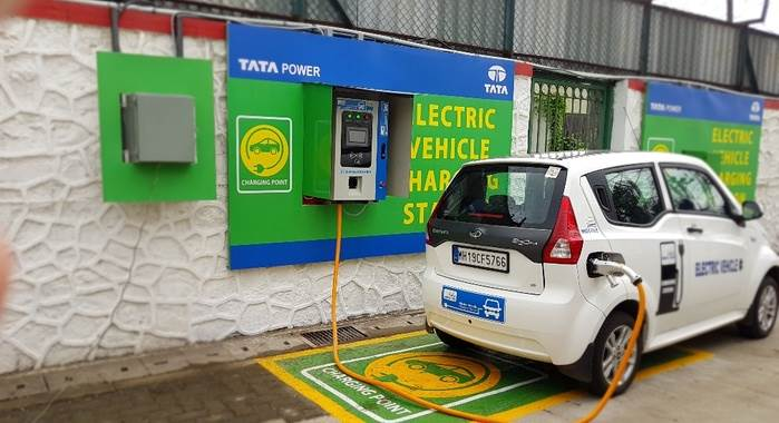 An-electric-car-charging-station