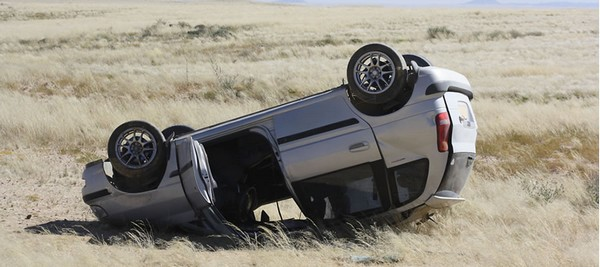 somersaulted-car-in-road-accident