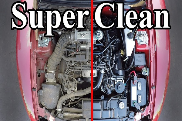 Super-clean-engine-bay