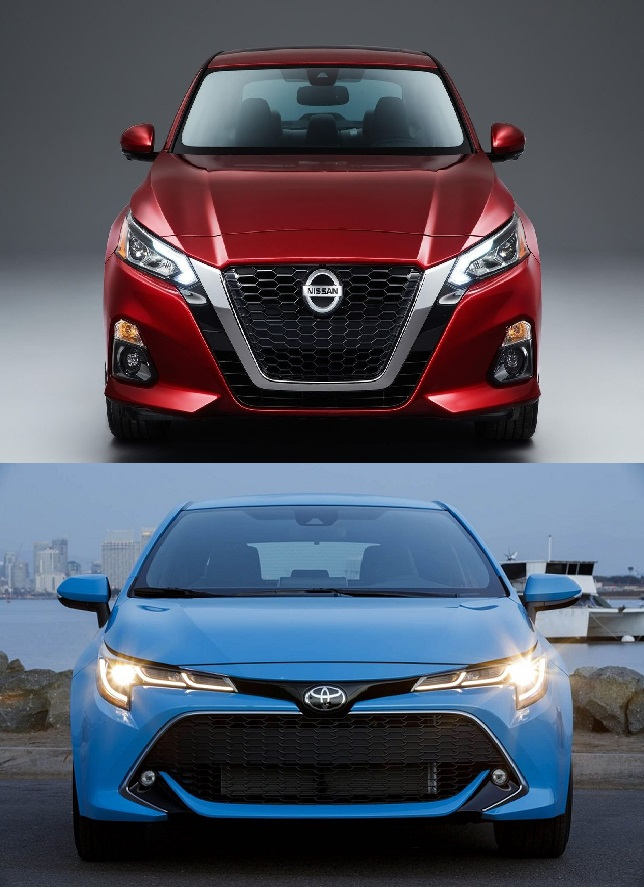 2019-Nissan-Altima-and-the-2019-Toyota-Camry-full-frontal