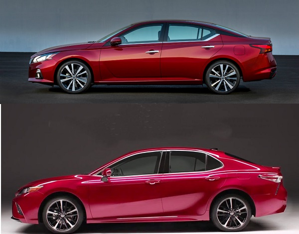 2019-Nissan-Altima-and-Toyota-Camry-profile