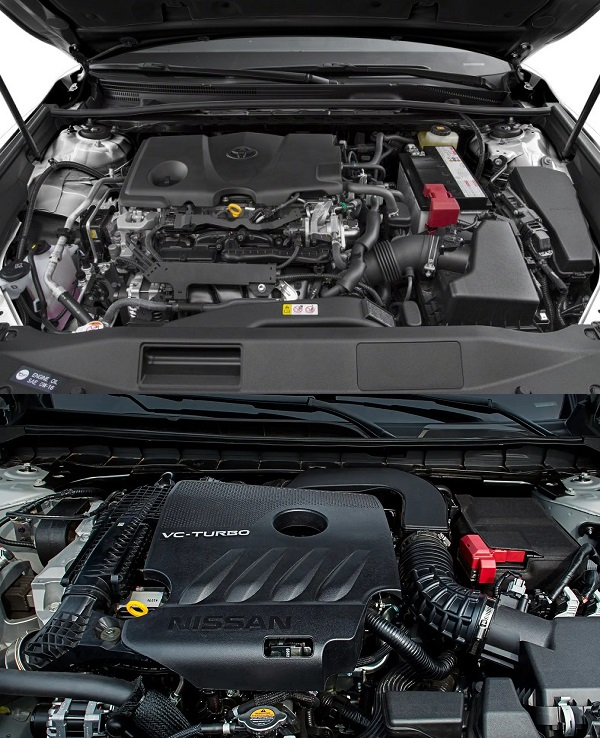 2019-Toyota-Camry-and-Nissan-Altima's-engines