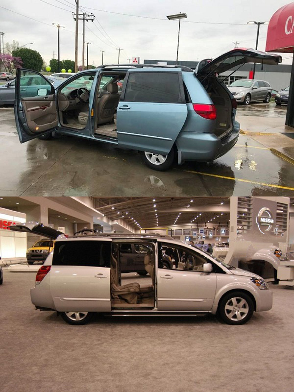 Design-and-Styling-comparison-of-Toyota-Sienna-and-Nissan-Quest-2005