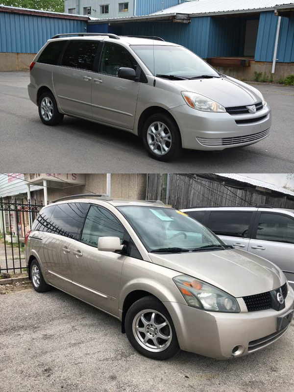 2005-Toyota-Sienna-and-the-Nissan-Quest