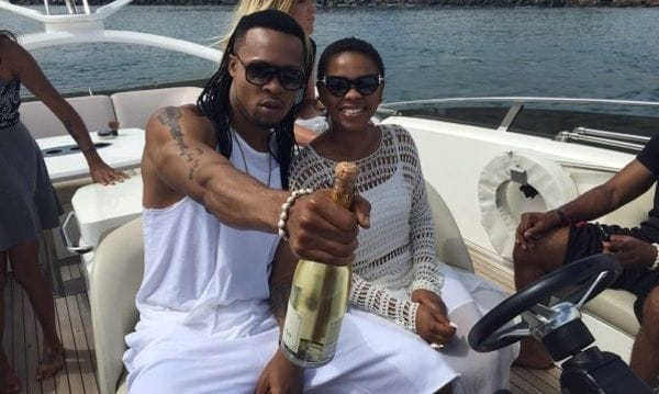 Flavour-and-Chidinma-on-a-boat.
