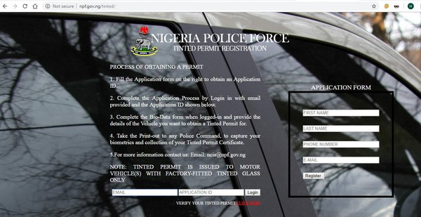 nigeria-tinted-glass-permit-registration