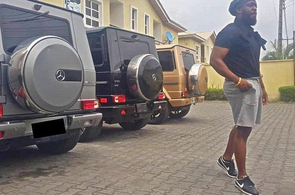 Timaya-3-mercedes-Benz-G-wagon-in-different-colors