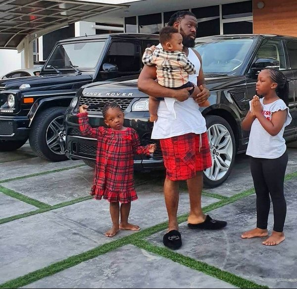 Timaya-and-his-kids-in-the-garage