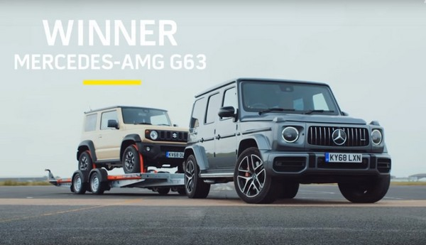 Drag Race Between Suzuki Jimny And Mercedes Amg G63 Which Is