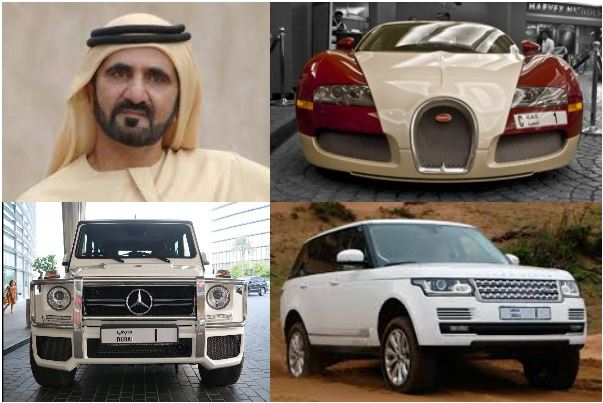 Sheikh-Mohammed's-BenzG63-Range-Rover-and-Bugatti-cars