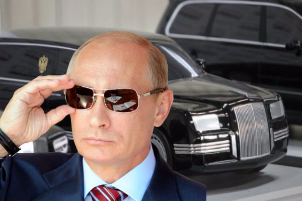 putin-with-his-offical-limo