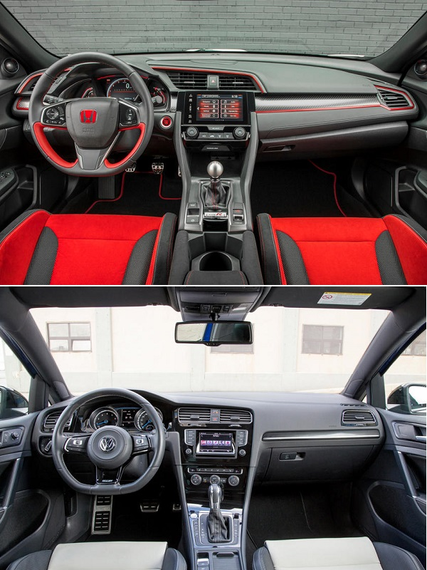 2019-Honda-Civic-Type-R-and-the-2019-Volkswagen-Golf-R-cockpit