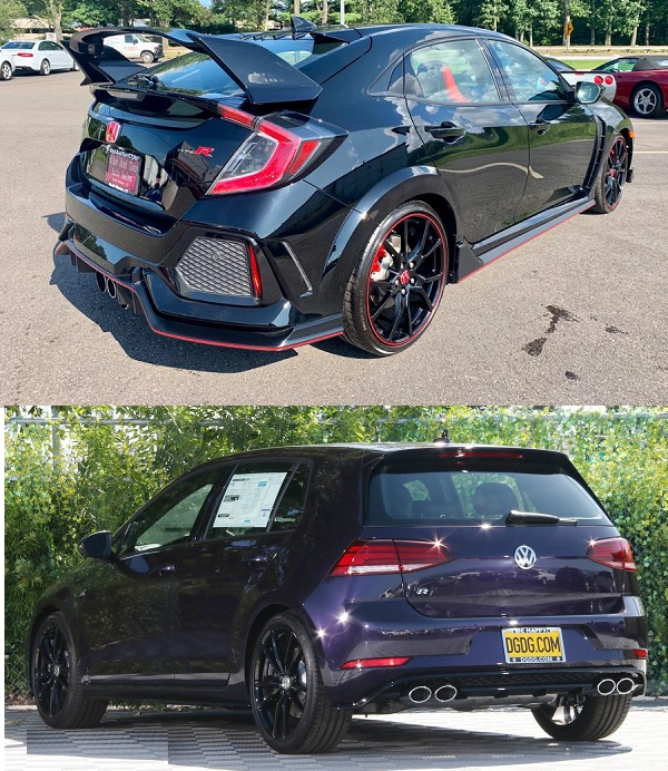 2019-Honda-Civic-Type-R-and-the-2019-Volkswagen-Golf-R-back