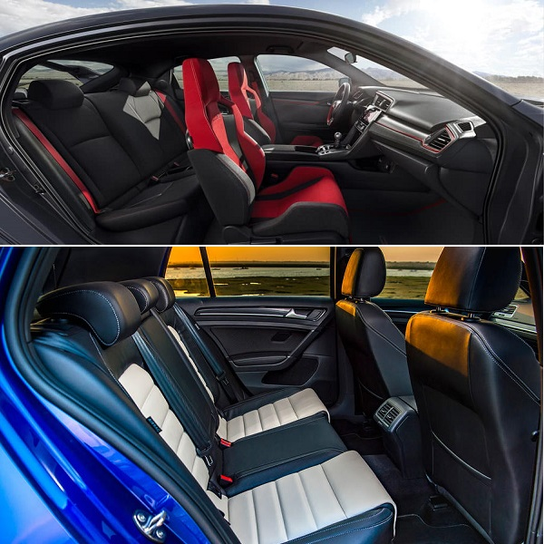 2019-Honda-Civic-Type-R-and-the-2019-Volkswagen-Golf-R-seats