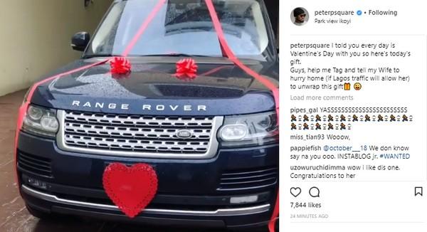 peter-okoye-car-gift-to-wife