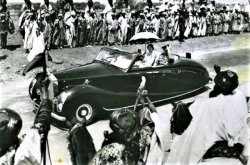 Whose Rolls-Royce did Queen Elizabeth II use on her first visit to Nigeria?
