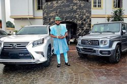 E-money cars and all the properties he wants to show off