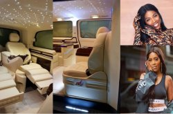 New Whip Alert! Dazzling interior of Tiwa Savage's mystery car