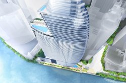 Aston Martin Residences, the tallest building in Miami, sold penthouses at $50 million