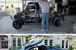 Super cool geek! This cat built his own Lamborghini and other Supercars!