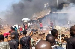 Fuel tanker causes fire outbreak in Onitsha market, lives and properties lost