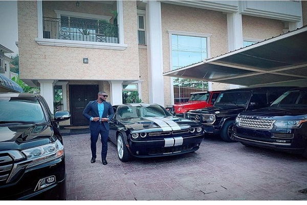 P-Square Ex-member flaunts fleet of cars in new photo