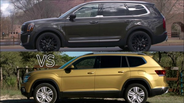 Kia Telluride 2020 vs Volkswagen Atlas 2019: Three-row SUVs alike, yet so different
