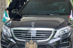 Check out the 2015 Benz S550 President Buhari drives