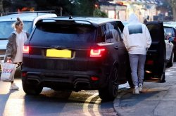Man U player Luke Shaw parks his new £120,000 Range Rover in double yellow lines AGAIN!
