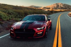 The 2020 Ford Mustang Shelby GT500 with 5.2L turbocharged V8 engine produces 700 hp