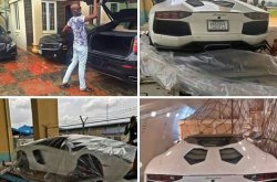 Mega-birthday present! Man splashes N115 million on Lamborghini Aventador for himself!
