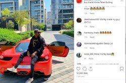 "Nigerian budding musician & Big Boy ""BNaira"" flaunts his brand-new Ferrari Sports car"