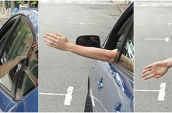 Instructions for standard hand signals while driving