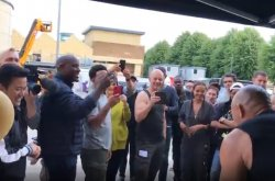 """Vin Diesel surprised with a muscle car on his birthday by his """"Fast"""" friends"""