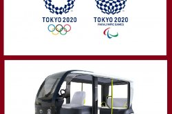 Toyota's EAPM, or Electric Accessible People Mover, designed for Tokyo 2020 Olympics