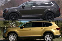 Kia Telluride 2020 vs Volkswagen Atlas 2019: Three-row SUVs alike, yet so different