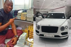 Mompha's val gift to his wife: the Bentley Bentayga SUV worth ₦99.5 million!