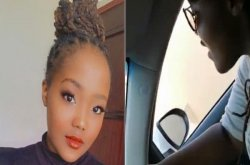 Watch funny video of lady whose boyfriend is teaching her how to drive a car