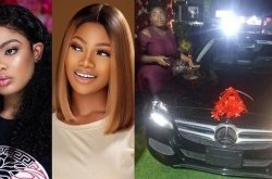 Tacha BBNaija gifted Benz car on her birthday; Nina Ivy reacts